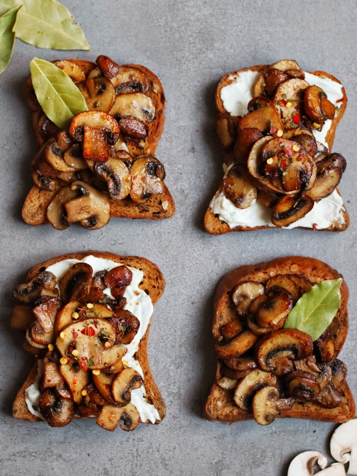 Spiced Mushrooms on Toast